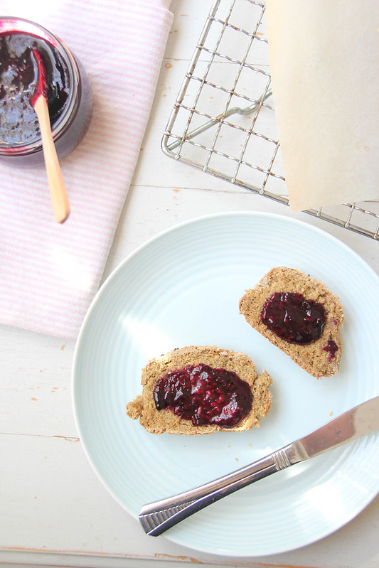 soda bread + berry compote