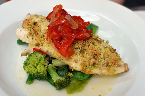 Pistachio & coconut crusted ocean fish