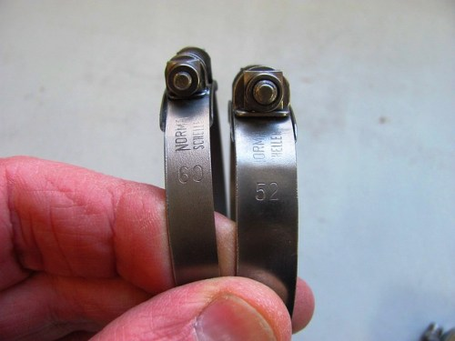 60 mm and 52 mm Clamps for Carburetors