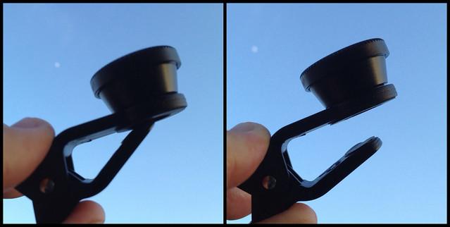 Cloth-Clip Wide (+Macro) + Fisheye Lenses for Camera Phones - 3