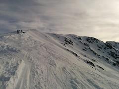 Die letzten Meter zum Gipfel des Rotlahner