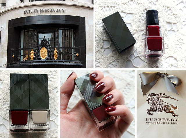 Burberry nail montage