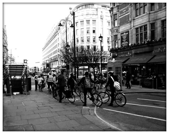 monochrome commuters