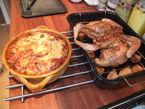 Spatchcocked chicken, potatoes, gratin, Sunday dinner by La belle dame sans souci