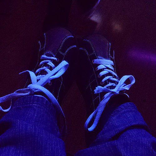 """Bowling for """"family"""" time. Clearly this doesn't show you quite how blue to laces are under the black light"""