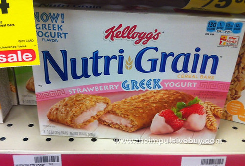 Kellogg's Nutri-Grain Strawberry Greek Yogurt