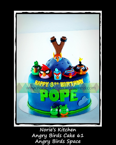 Norie's Kitchen - Angry Birds Cake 61- Space by Norie's Kitchen