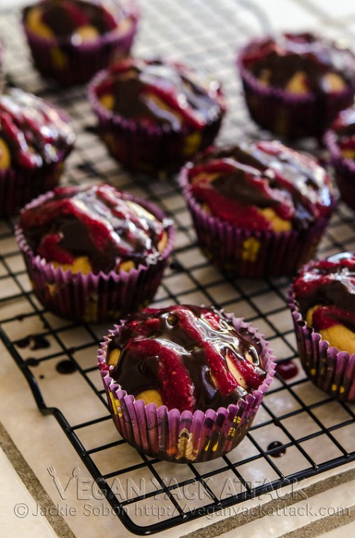 These Bloody Berry Cupcakes are festively fun and gluten-free! Try them out on any group of friends for the upcoming holidays.