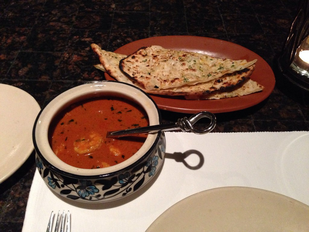 Goan Prawn Curry with Garlic Naan