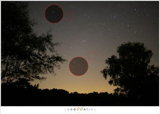 Twee vallende sterren in één foto? Of toch niet?