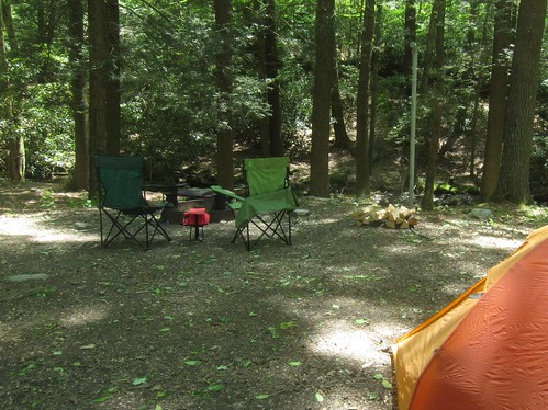 Creekside campsite
