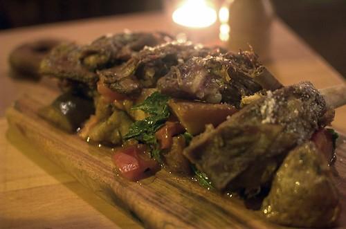 Twice-cooked lamb ribs