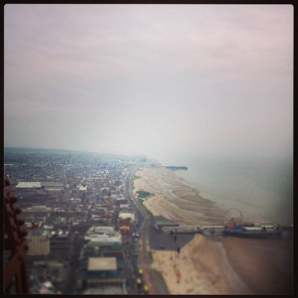 That's the #pepsimaxbigone at the #pleasurebeach in the distance from the top of the #blackpooltower