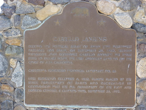 P1210220 California Historical Landmark No. 56 Cabrillo Landing by jawajames