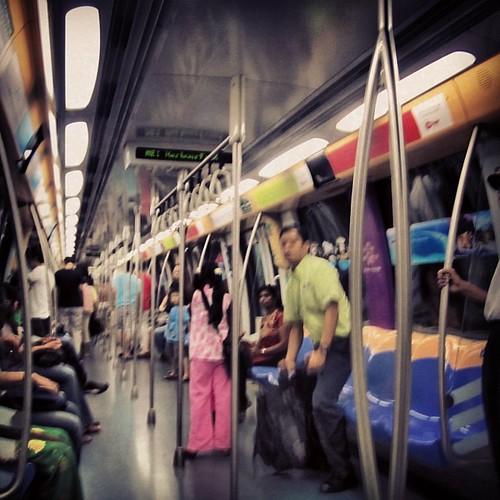On the MRT #singapore by @MySoDotCom