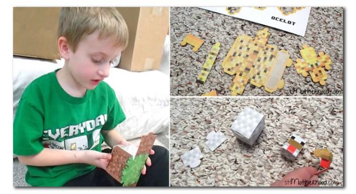 minecraft papercraft toys