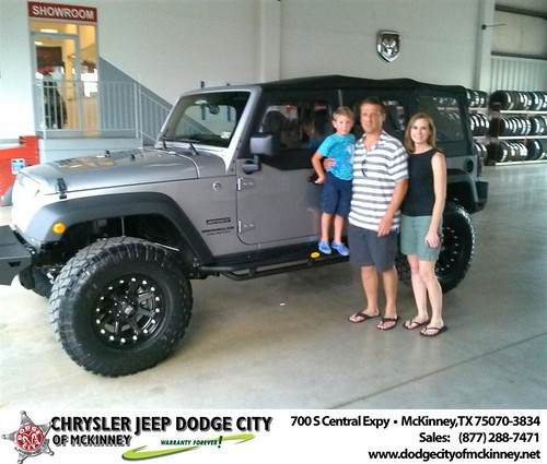 Thank you to Russell Hastings on the 2013 new Jeep  from David Walls and everyone at Dodge City of McKinney! by Dodge City McKinney Texas