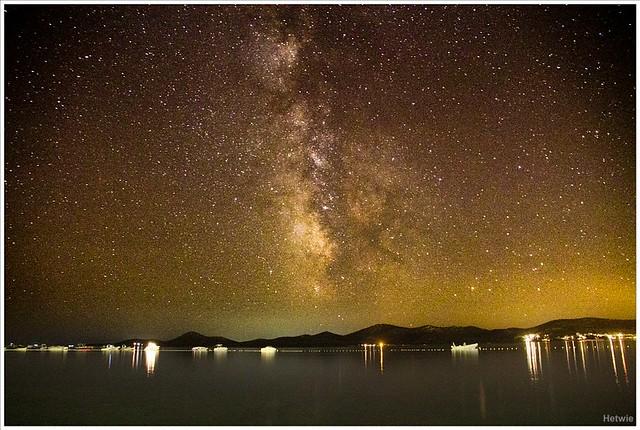 De sterren boven de Adriatische zee