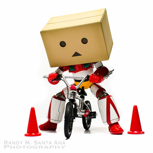 Danbo Getter Rides A Bicycle.