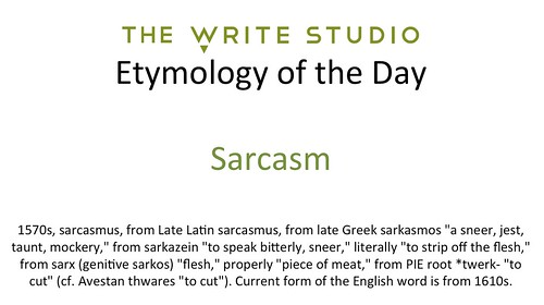 root word of sarcasm
