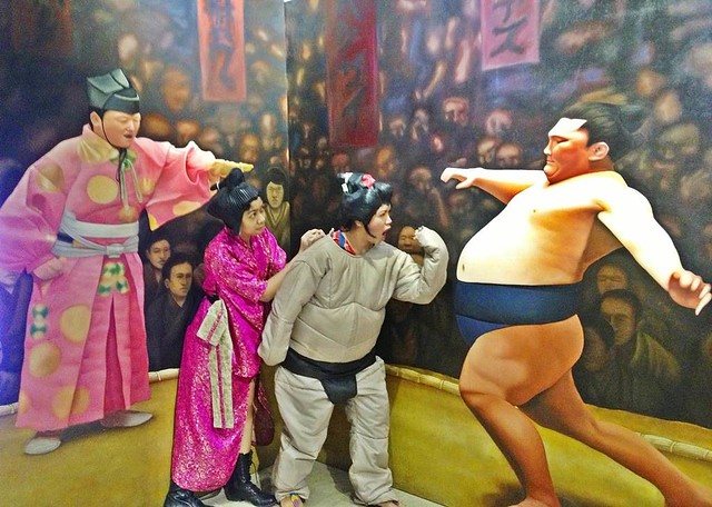 Guests enjoy dressing up as sumo wrestlers