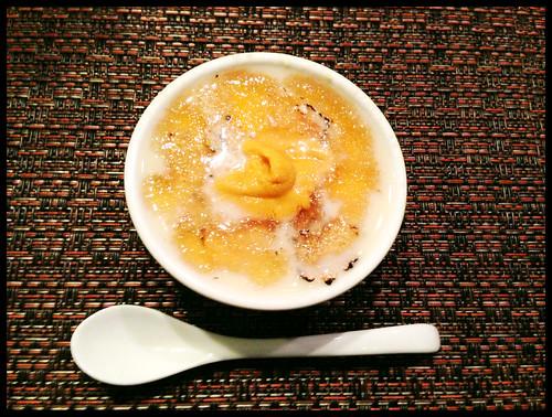 Cold Chawanmushi w/ Summer Truffle & Uni