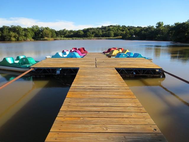 colorful paddleboats