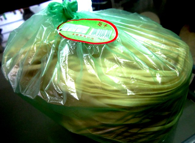 Mee kua in plastic bag