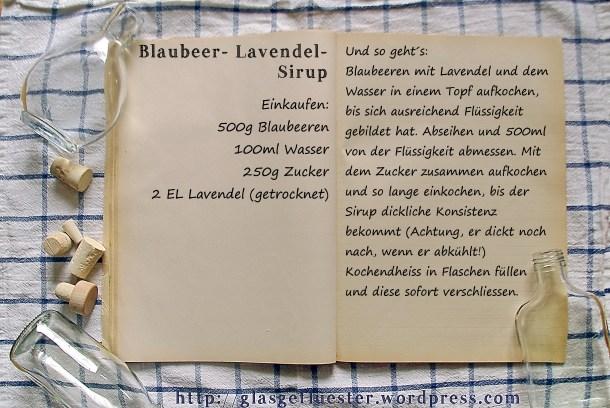 Einkaufszettel Blaubeer Lavendel Sirup by Glasgeflüster