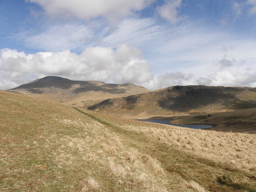 Scafell, Great How above Burnmoor Tarn