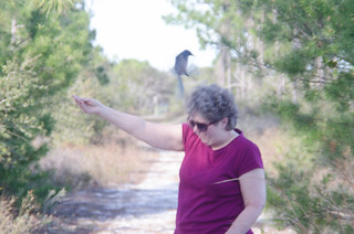 Laura with Scrub Jay-003