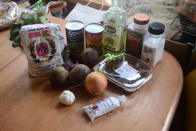 Ingredients - Persian Beet Burgers