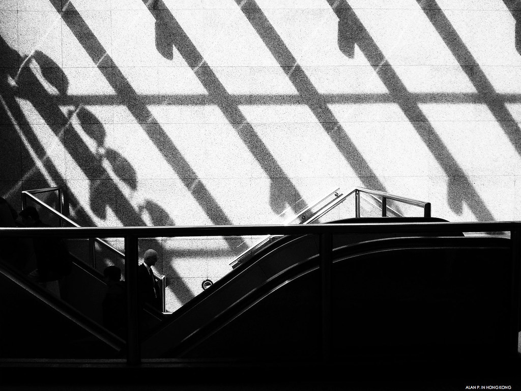 Escalator under the sun