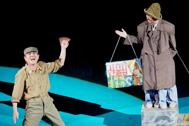 American Soldier Clown at Pyongyang Military Circus