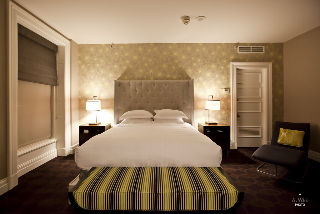 King Bed at the Renovated Suite