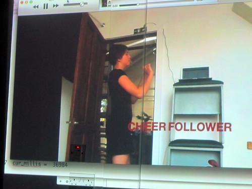 Alex Glowaski's video on Cheer Follower wearable tech