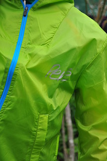 Kids rain jacket - reflective logo