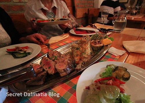 Seafood lunch at Konoba Matejuska