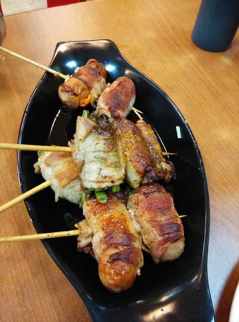 Yakitori and Yaki Sausage at Eat Fresh
