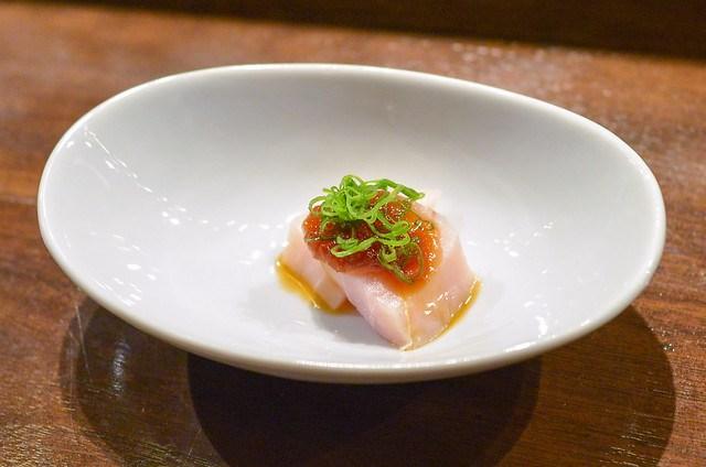 Swordfish onion sauce