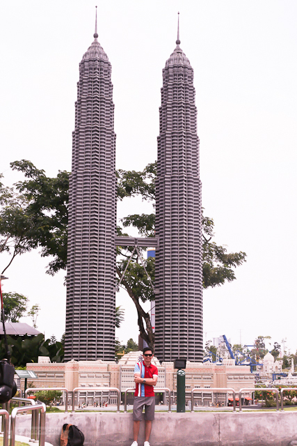 By the LEGO replica of Petronas Towers