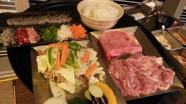 Teppanyaki ingredients