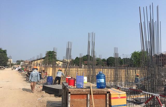 Dãy nhà phố L36 tại dự án Cityland Park Hills - Gò Vấp đang được chủ đầu tư triển khai xây dựng móng.