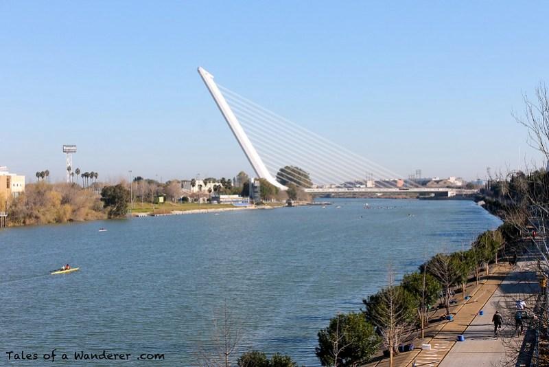 SEVILLA - Puente del Alamillo / Río Guadalquivir