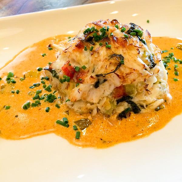 Lump Crab Cake with Cajun Lobster Sauce