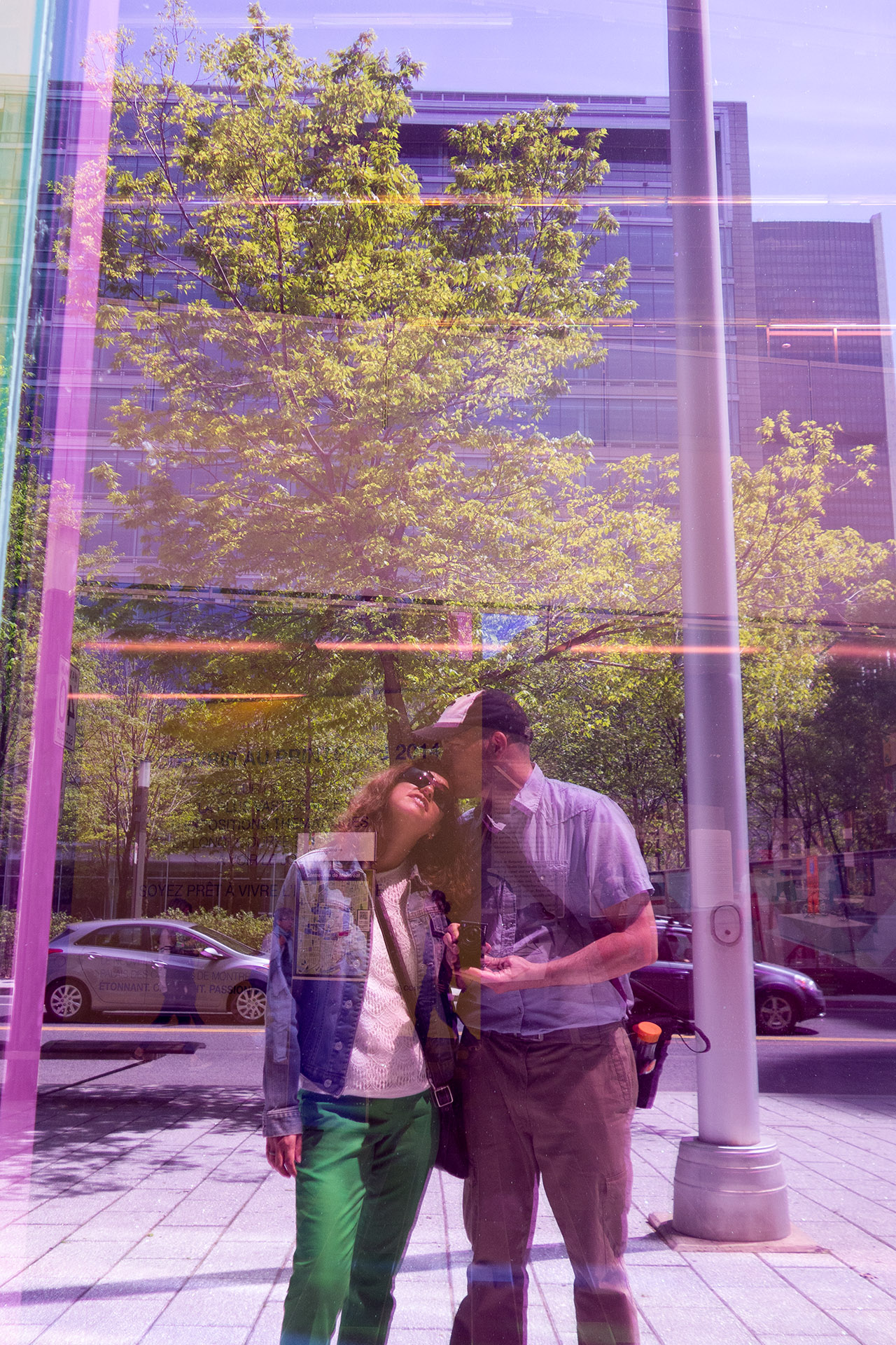 Us feeling the artsy vibe of the city.