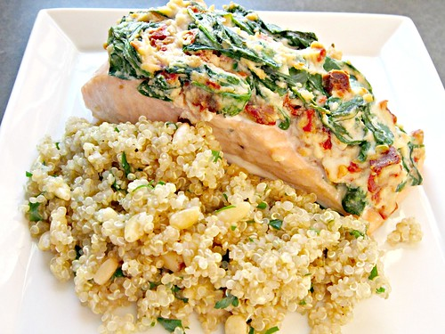 Salmon Florentine with Quinoa Pilaf 003