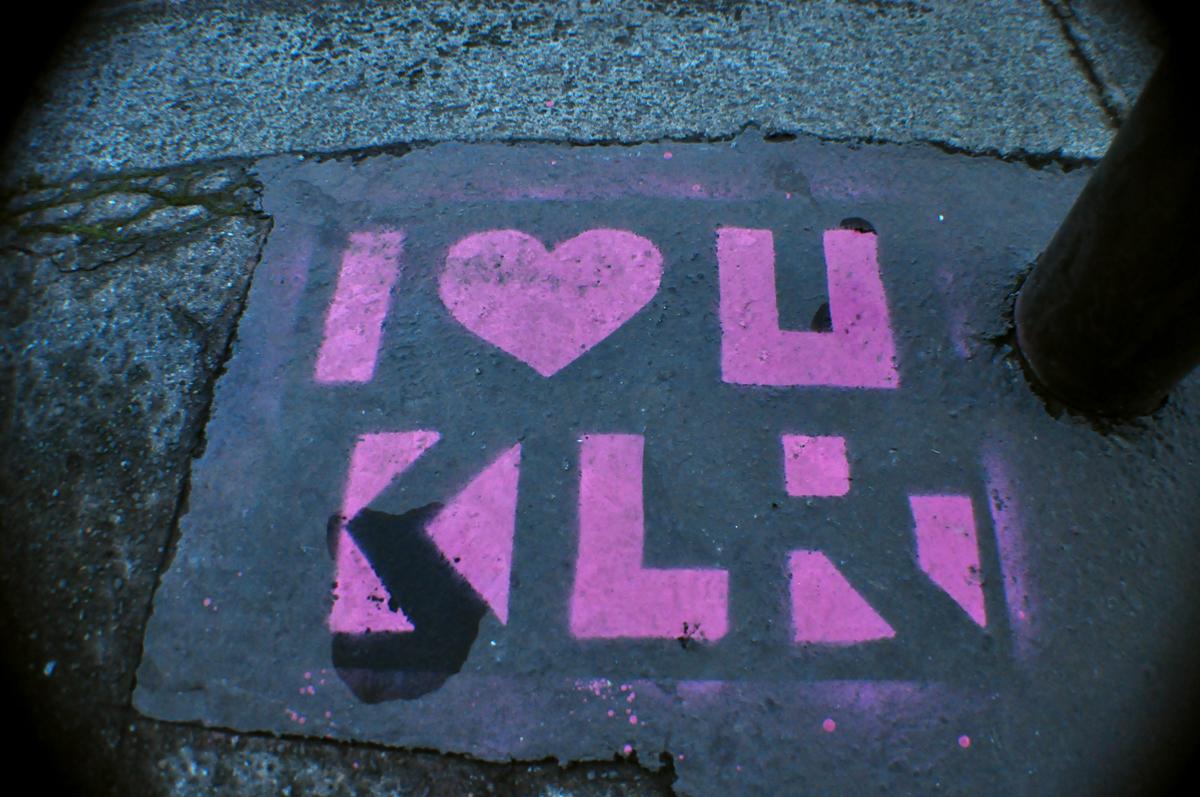 I ♥ U KLR rose