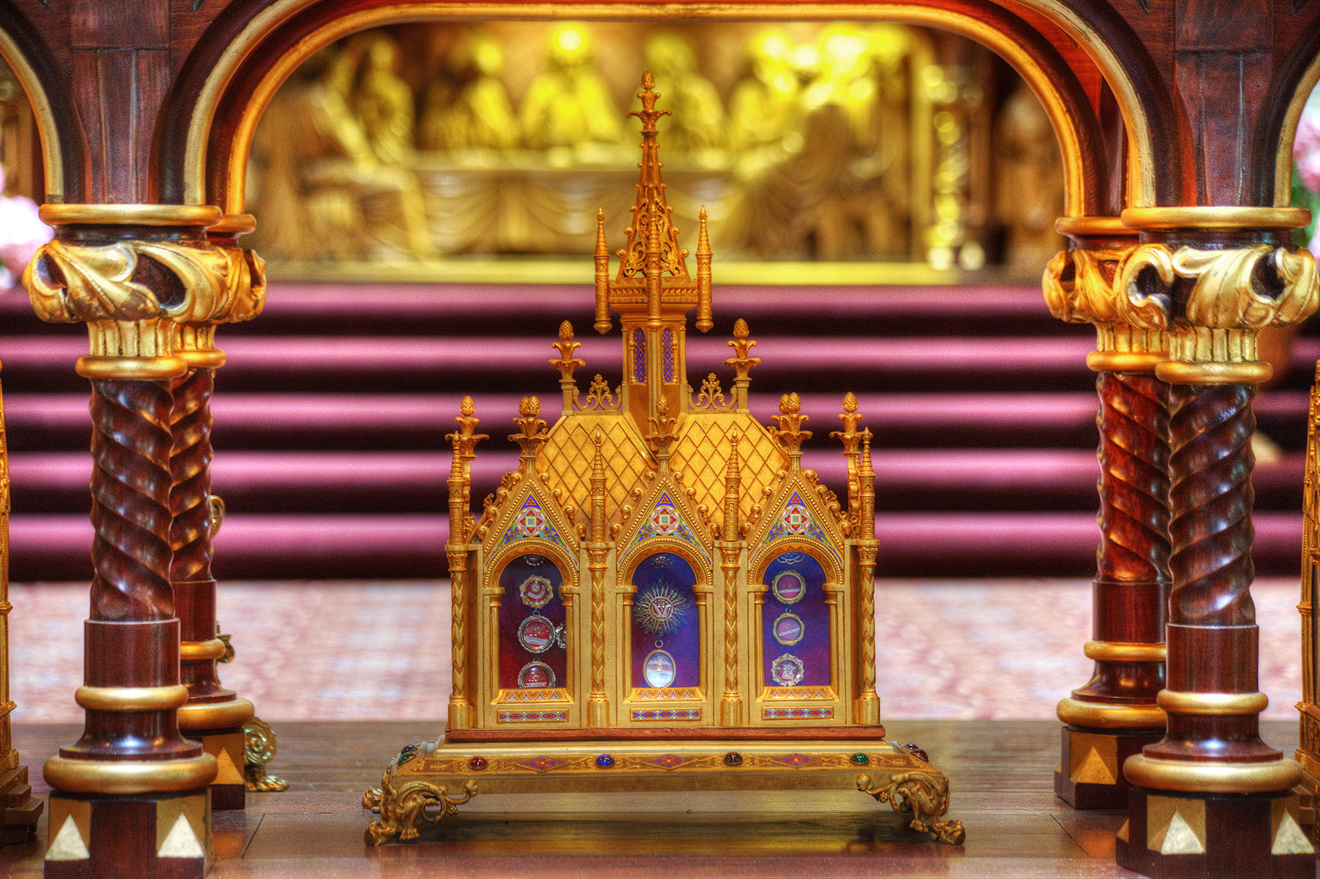Reliquaries before the Altar.
