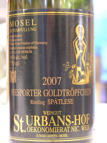 St. Urbans-hof 2007 Piesporter Goldtropfchen Riesling Spatlese Mosel-Saar-Ruwar
